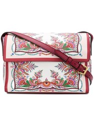 Etro Floral Print Shoulder Bag Red