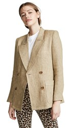 Smythe Unstructured Blazer Tan