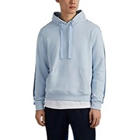 Atm Anthony Thomas Melillo Striped Cotton Hoodie Lt. Blue