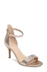 Women's Bp. 'Luminate' Open Toe Dress Sandal Rose Gold Crackle Faux Leather