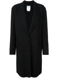 Dkny Single Breasted Coat Black