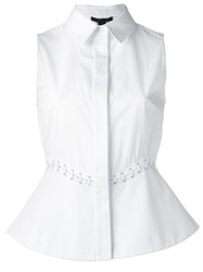 Alexander Wang Lace Up Detail Sleeveless Blouse White