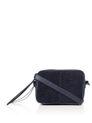 Label Lab Hadley Mixed Leather Crossbody Bag Navy