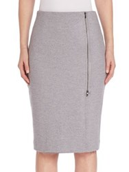 Max Mara Wool Knee Length Skirt Light Grey