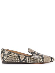 Veronica Beard Snakeskin Effect Loafers 60