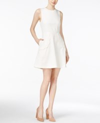 Maison Jules Scalloped Fit And Flare Dress Only At Macy's Egret