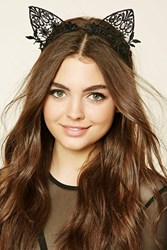 Forever 21 Crochet Cat Ear Headband Black
