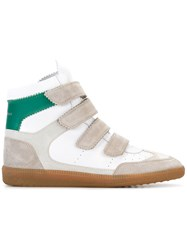 Isabel Marant Strap Fastening Hi Top Sneakers White