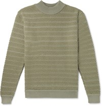 S.N.S. Herning Wool Mock Neck Sweater Green