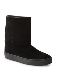 Liebeskind Faux Fur Lined Suede Boots Black