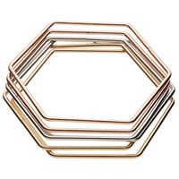 John Lewis Hexagonal Bracelets Rose Gold Multi
