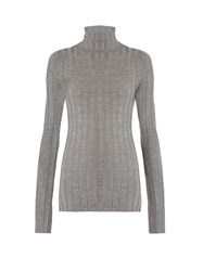 Acne Studios Corin Wool Blend Roll Neck Sweater Grey