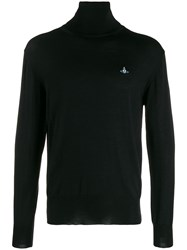 Vivienne Westwood Embroidered Roll Neck Sweater Black