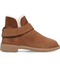Ugg Mckay Sheepskin Lined Suede Ankle Boots Brown