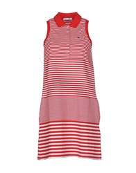 Lacoste Dresses Short Dresses Women Red