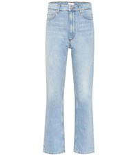 Magda Butrym Cropped High Rise Flared Jeans Blue