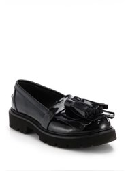 Msgm Kiltie Tassel Patent Leather Loafers