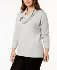 Ideology Plus Size Cowl Neck Top Created For Macy's Whisper Heather