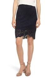 Rosemunde Lace Pencil Skirt Black