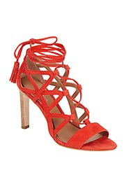 Elie Tahari Hurricane Suede Lace Up Cage Pumps Energy