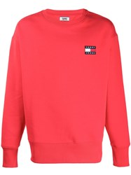 Tommy Jeans Heavyweight Comfort Fit Sweatshirt Red