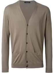 Roberto Collina V Neck Cardigan Nude And Neutrals