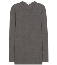 James Perse Cotton Blend Long Sleeved T Shirt Grey
