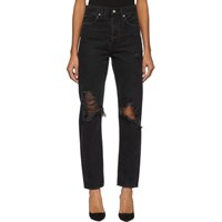 Agolde Black 90'S Mid Rise Loose Fit Jeans