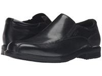 Rockport Essential Details Ii Waterproof Bike Toe Slip On Black Leather Men's Shoes