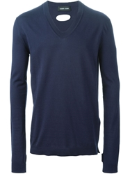 Damir Doma V Neck Sweater Blue