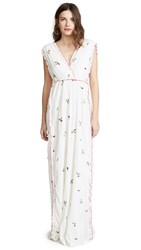 Intropia Sleeveless Maxi Dress Off White