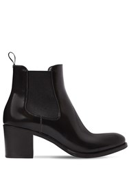 Church's 55Mm Shirley Brushed Leather Ankle Boots Black