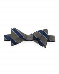 Neiman Marcus Formal Reversible Bow Tie Black Silver