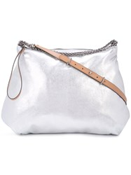 Barbara Bui Large Shoulder Bag Silver