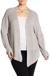 14Th And Union Open Knit Cardigan Plus Size Brown