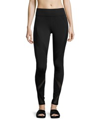 Michi Spire Mesh Panel Performance Leggings Black