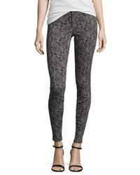 Cj By Cookie Johnson Joy Lace Print Denim Leggings Gray