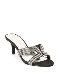 Caparros Cynthia Satin Gemstone Sandal Pumps Black