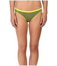 Icebreaker Siren Bikini Cactus Jet Heather Stripe Women's Underwear Cactus Jet Heather Stripe