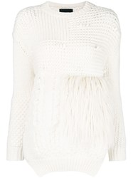 Simone Rocha Patchwork Jumper Nude And Neutrals