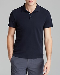 Theory Boyd Census Solid Pique Polo Slim Fit Eclipse Blue