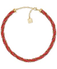 Anne Klein Bead And Crystal All Around Collar Necklace Siam