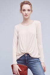 Anthropologie Agency Twist Front Top Cream