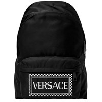 Versace Box Logo Backpack Black