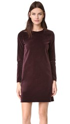 Theory Wynter Velvet Dress Plum