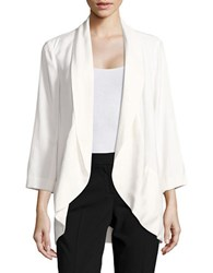 1.State Asymmetrical Bracelet Sleeved Jacket Ivory