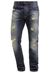Superdry Biker Slim Fit Jeans Heavy Damage Dark Blue