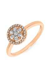 Women's Bony Levy Flower Diamond Stackable Ring Rose Gold Nordstrom Exclusive