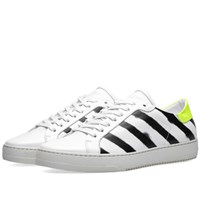 Off White Diagonals Spray Sneaker White