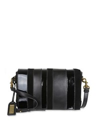 Badgley Mischka Natalie Calf Hair And Leather Crossbody Bag Black